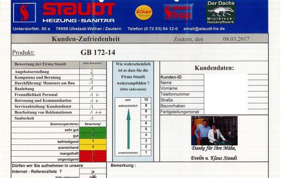 Gasbrennwertgerät vom 08.03.2017