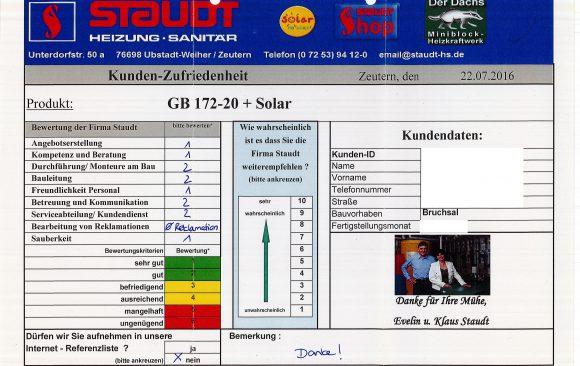 Gasbrennwertgerät und Solar